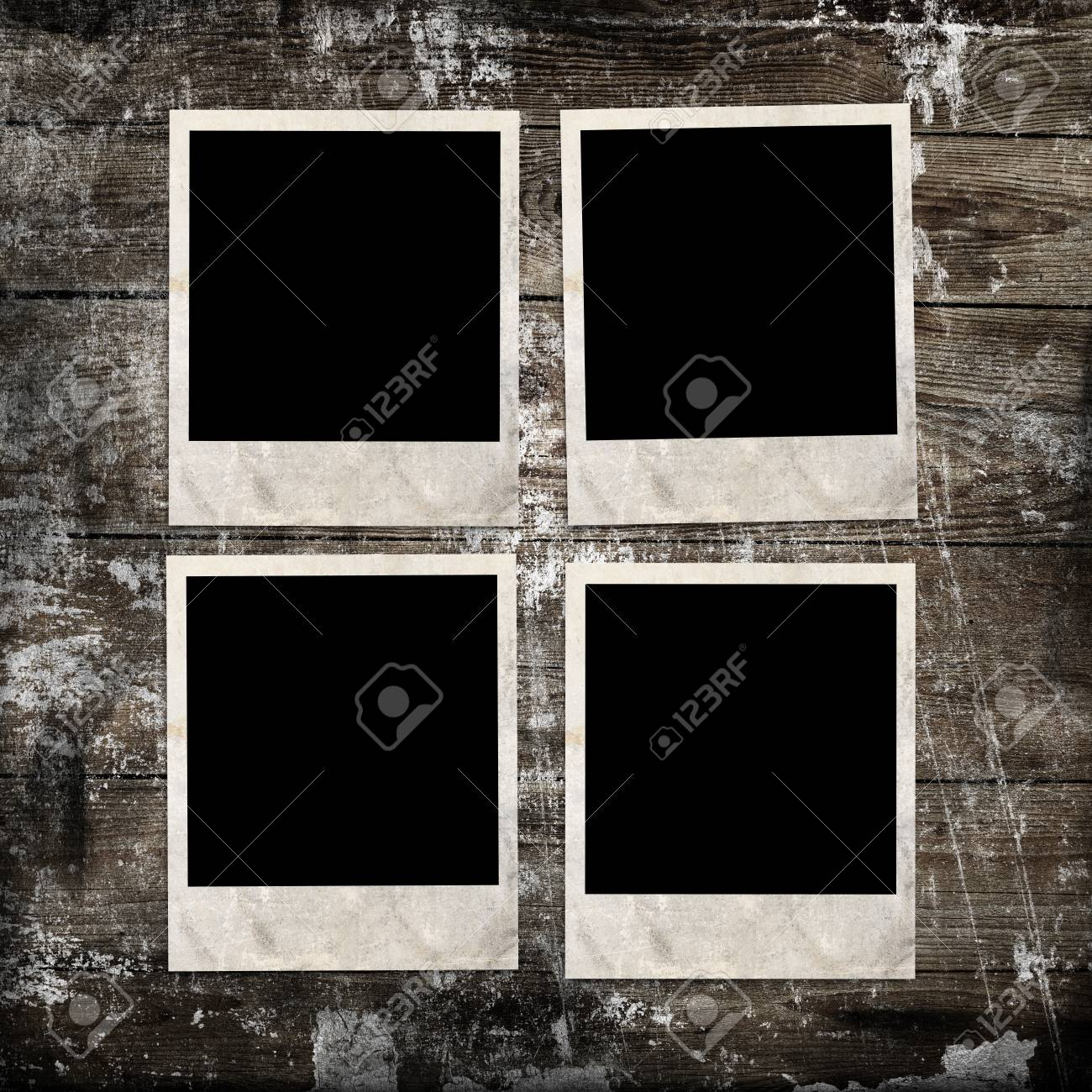 photo frames on wooden background Stock Photo - 19345396