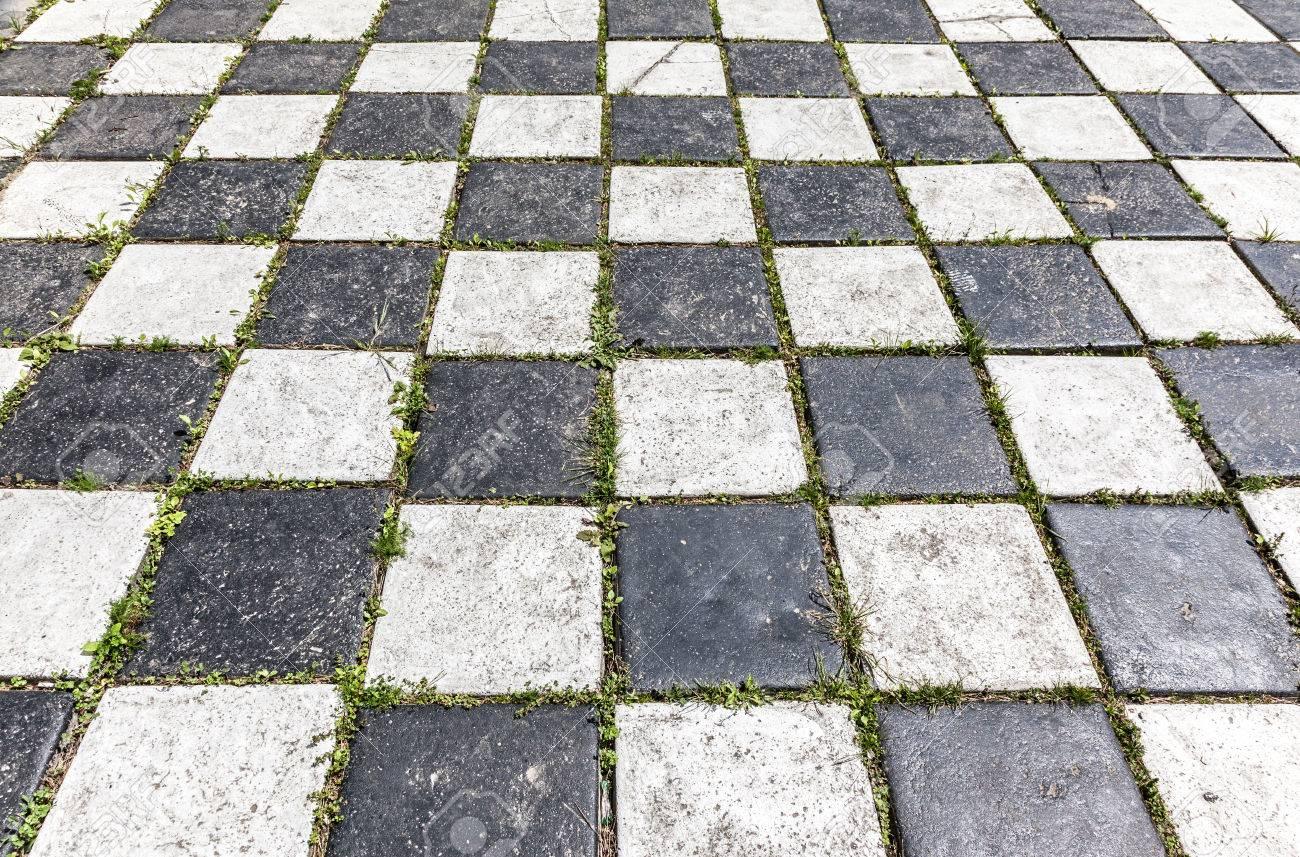 Checkered Hintergrund Boden Muster In Der Perspektive Mit Einem
