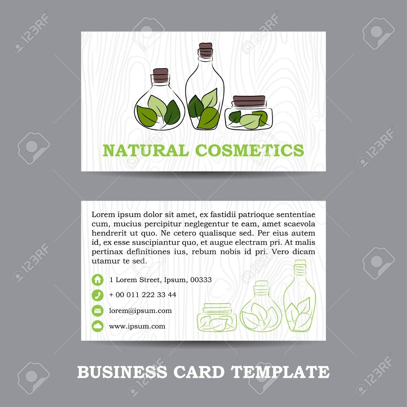 Vector natural cosmetics shop business card template royalty free vector vector natural cosmetics shop business card template reheart Gallery