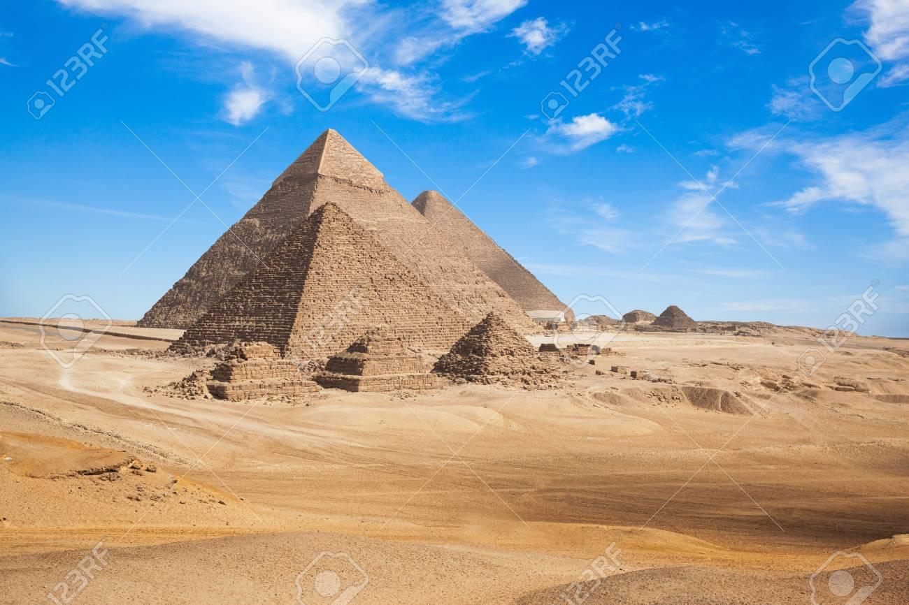 Egypt Cairo - Giza. General view of pyramids - 96874961