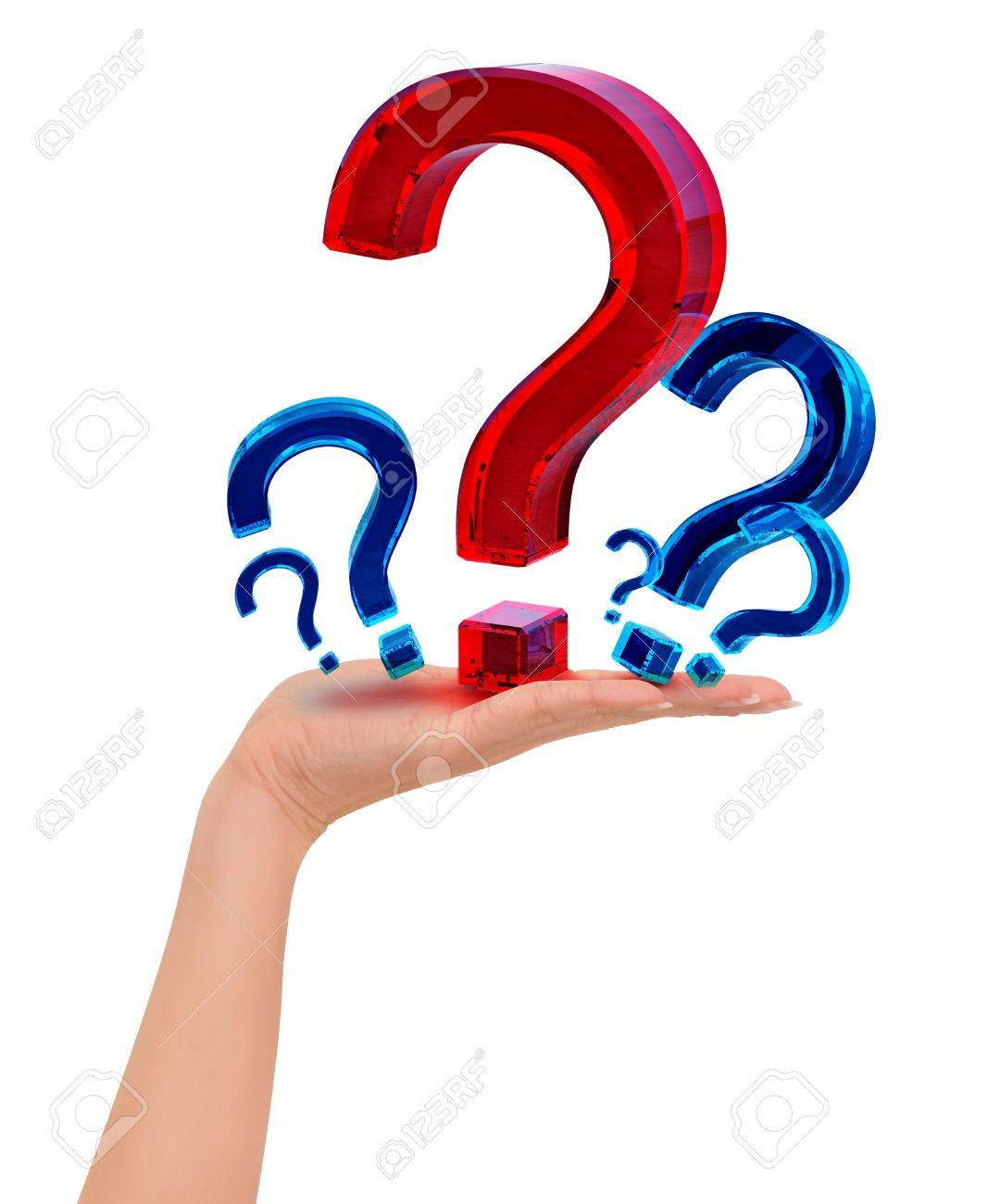 Person chooses the most important question in his life Stock Photo - 8207633