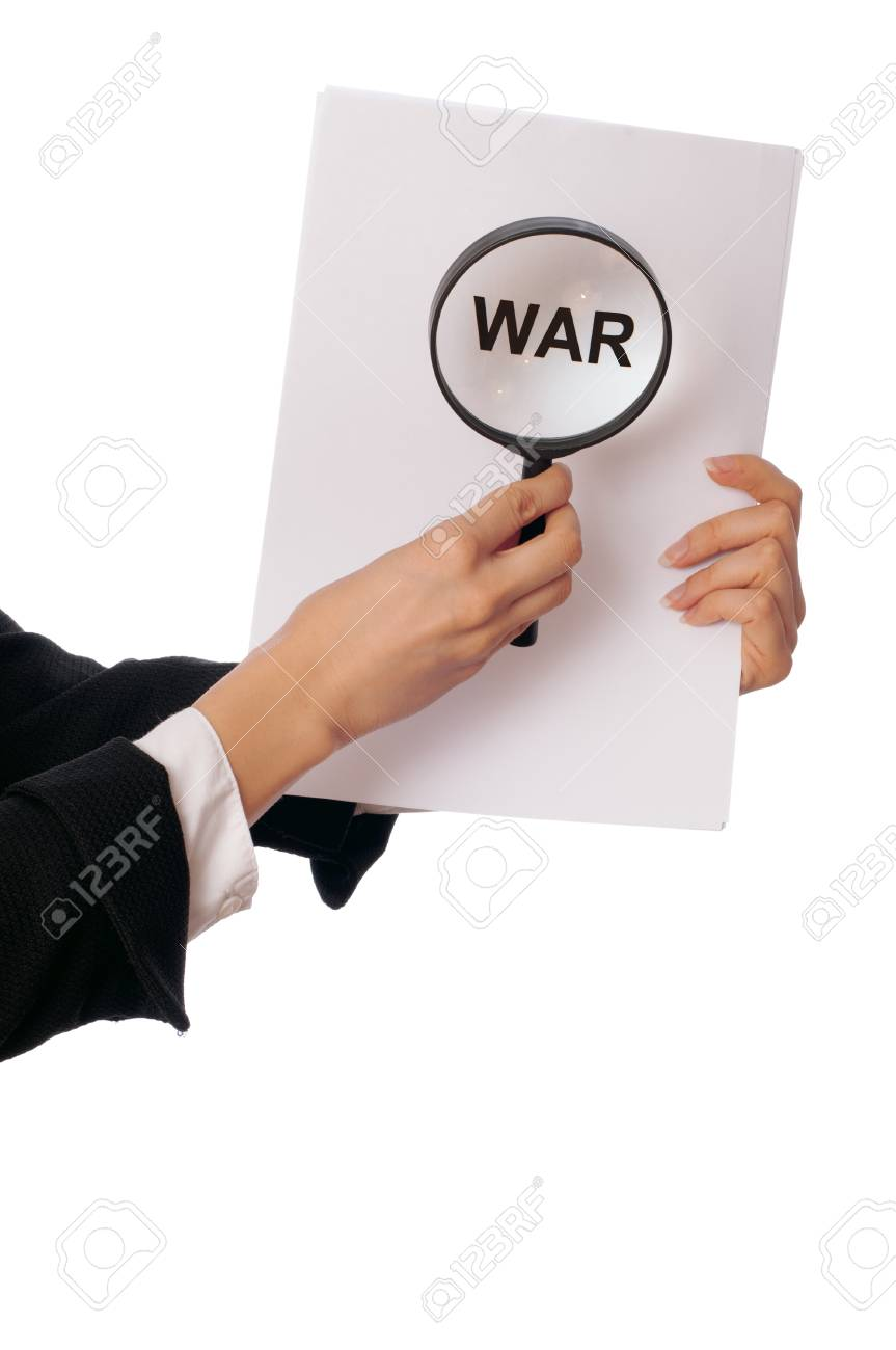 Detailed consideration of the document on possibility of new war Stock Photo - 8495014