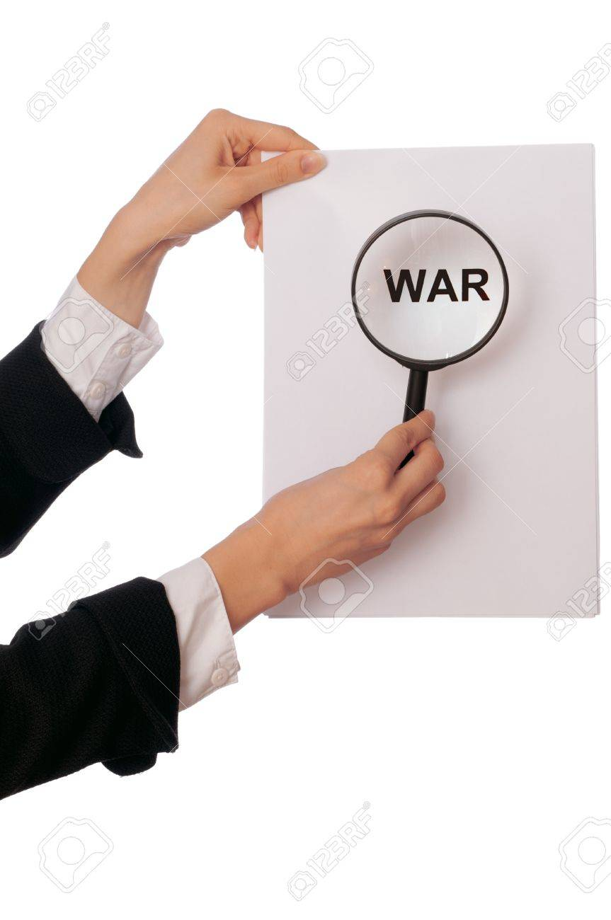 Detailed consideration of the document on possibility of new war Stock Photo - 8573248