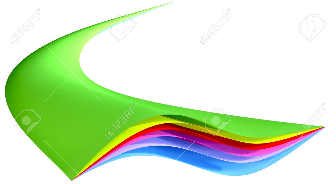 colored layered abstract geometric figure stretching from the infinity Stock Photo - 9183842