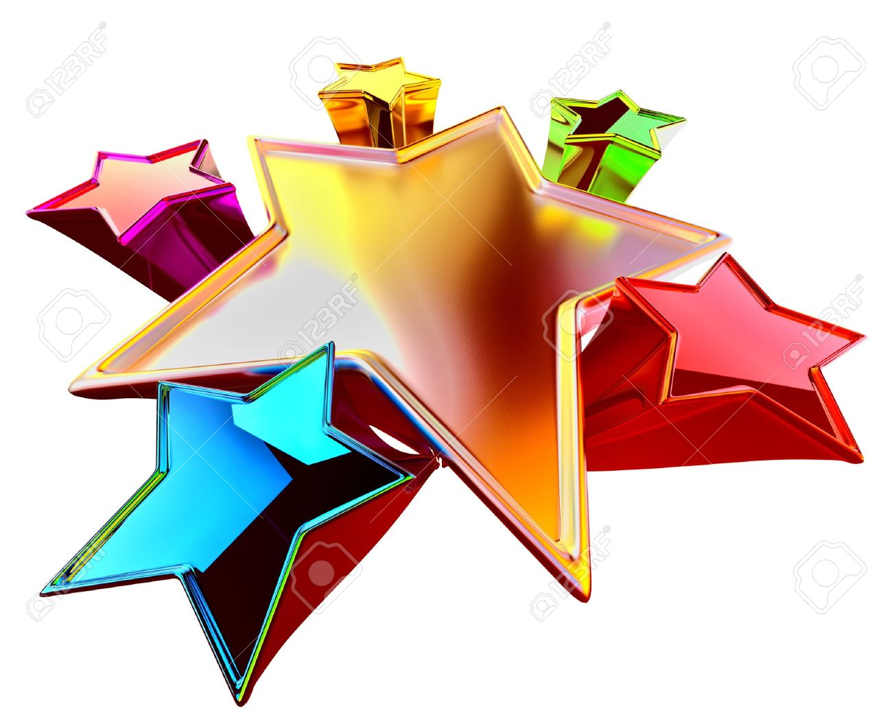 a colorful shining stars in the motion with stylistic distortion of dimensions Stock Photo - 13850180