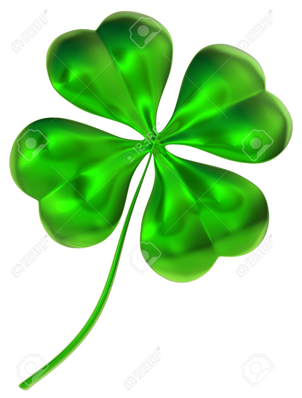 Glossy four leaf clover as international traditional symbol of glossy four leaf clover as international traditional symbol of good luck and fortune zdjcie seryjne biocorpaavc Choice Image