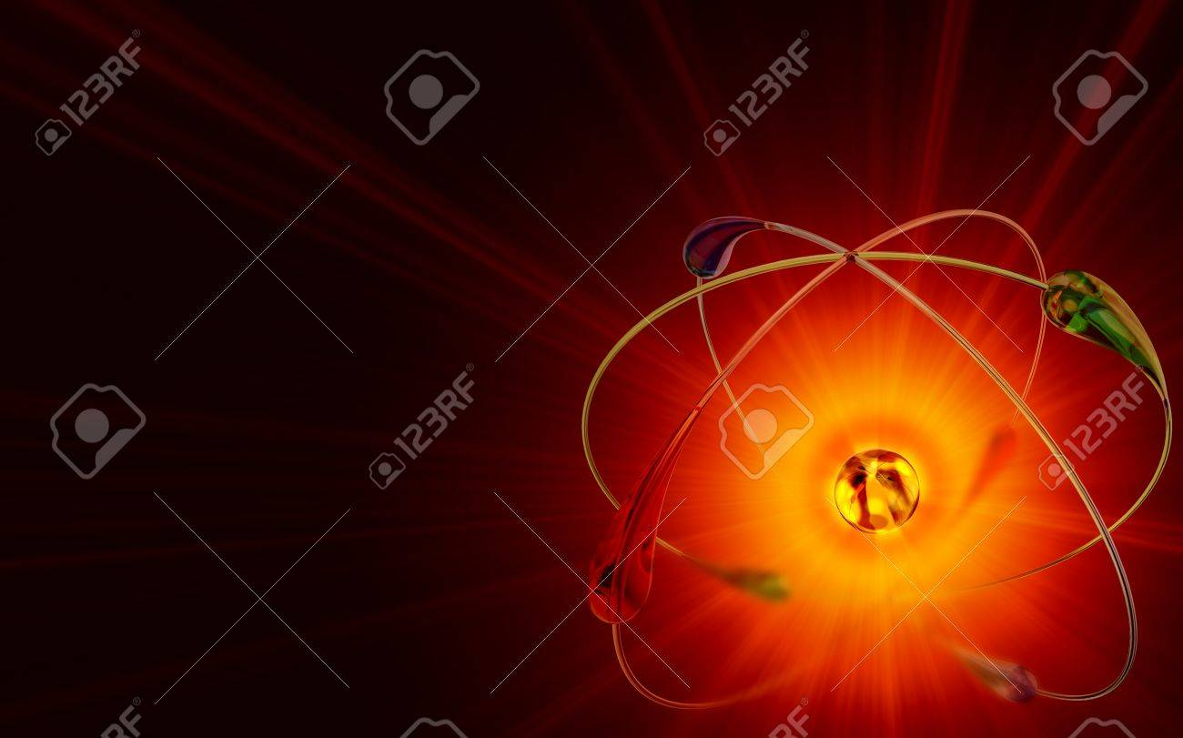 atom in cold fusion nuclear reactions at room temperature is a cheap and abundant source of energy. 3d model Stock Photo - 15073606