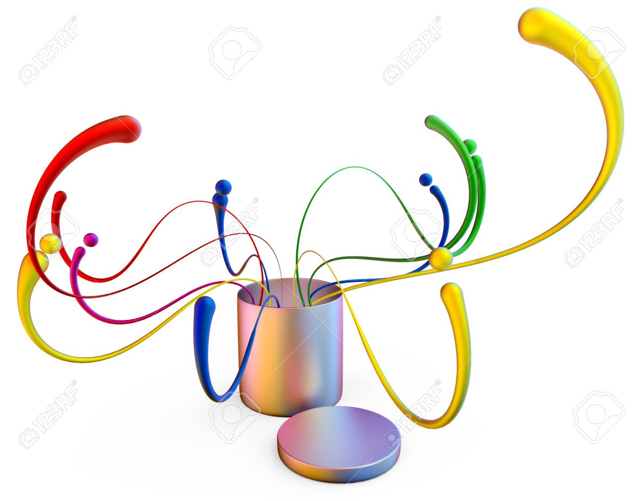 colorful abstract concept frame with many design elements on white background Stock Photo - 15830398
