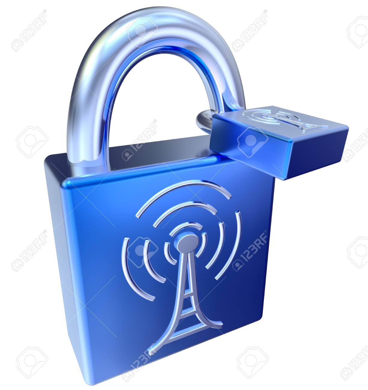 lock icons as symbol locked signals Stock Photo - 21497999