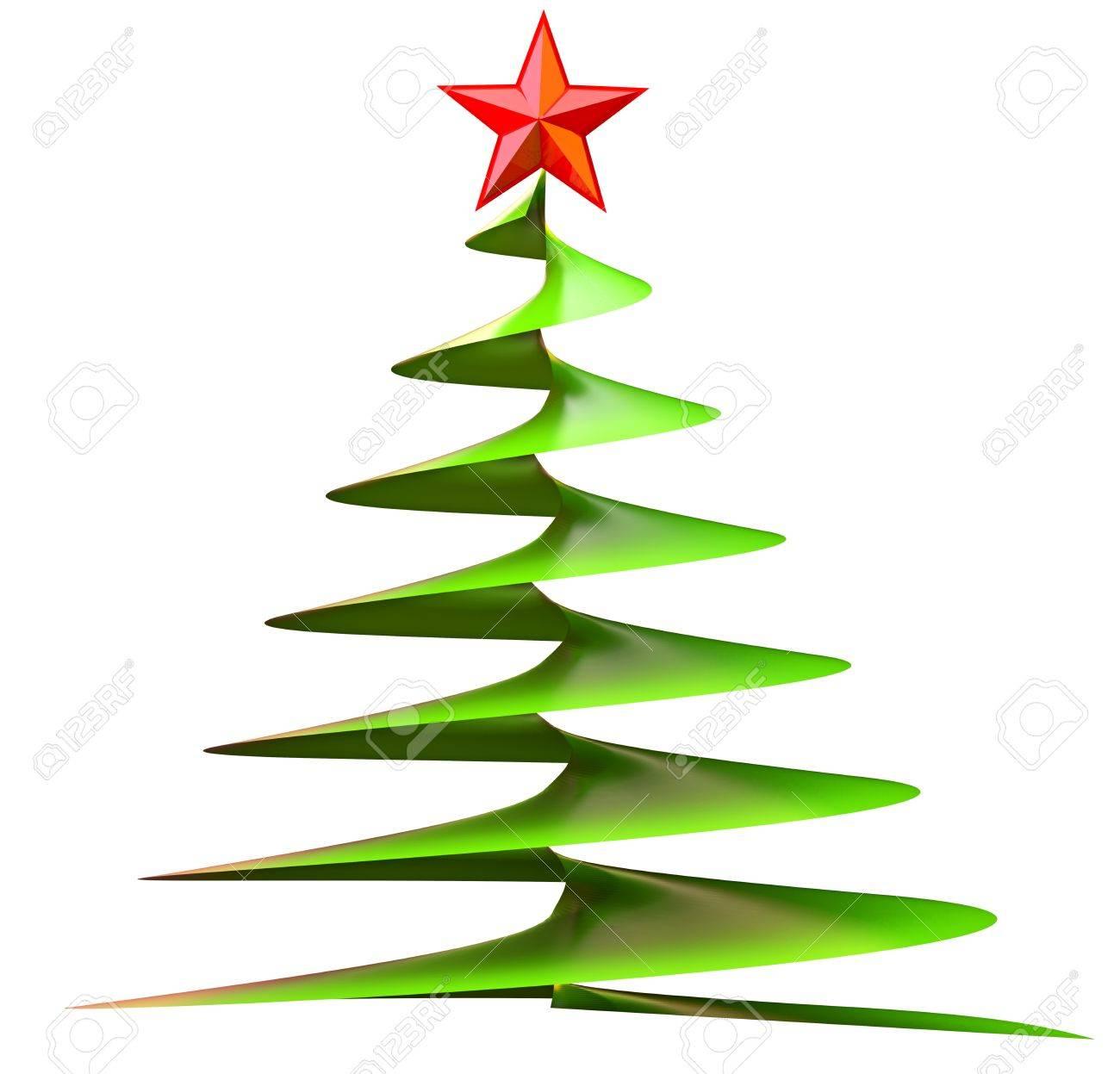 foto de archivo rbol de navidad con la estrella roja hecha de vidrio como tarjeta de felicitacin decorativa