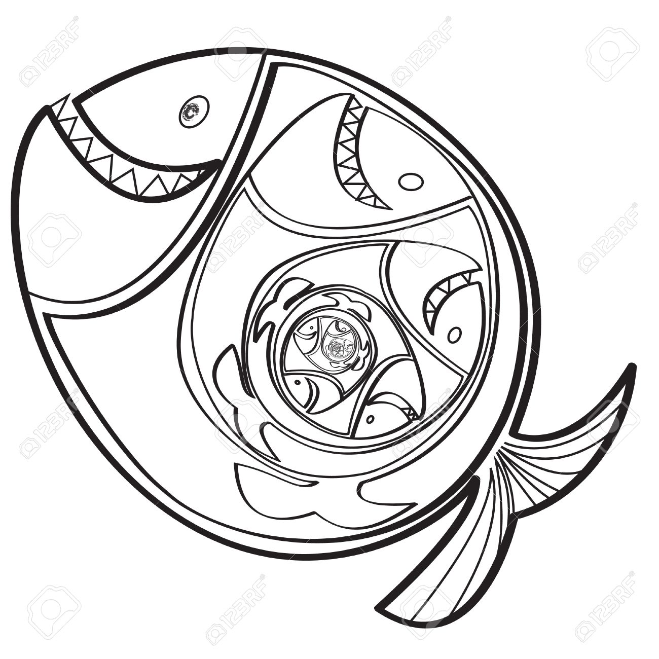 Fish Eating Fish Cartoon Big Fish Eating a Little Fish