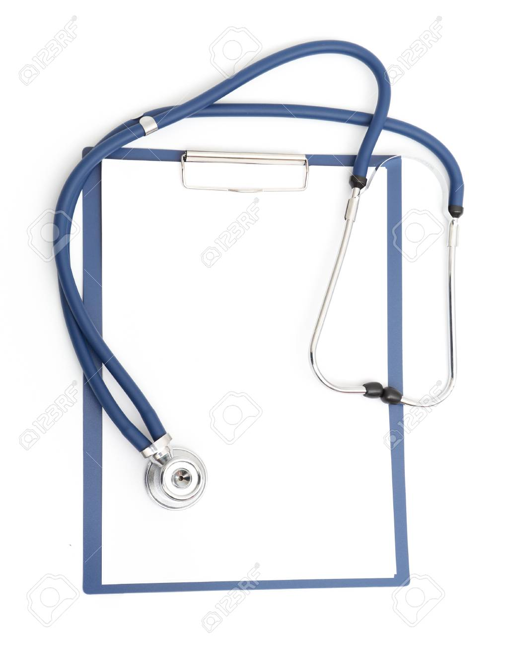 blank clipboard with modern stethoscope Stock Photo - 8814258