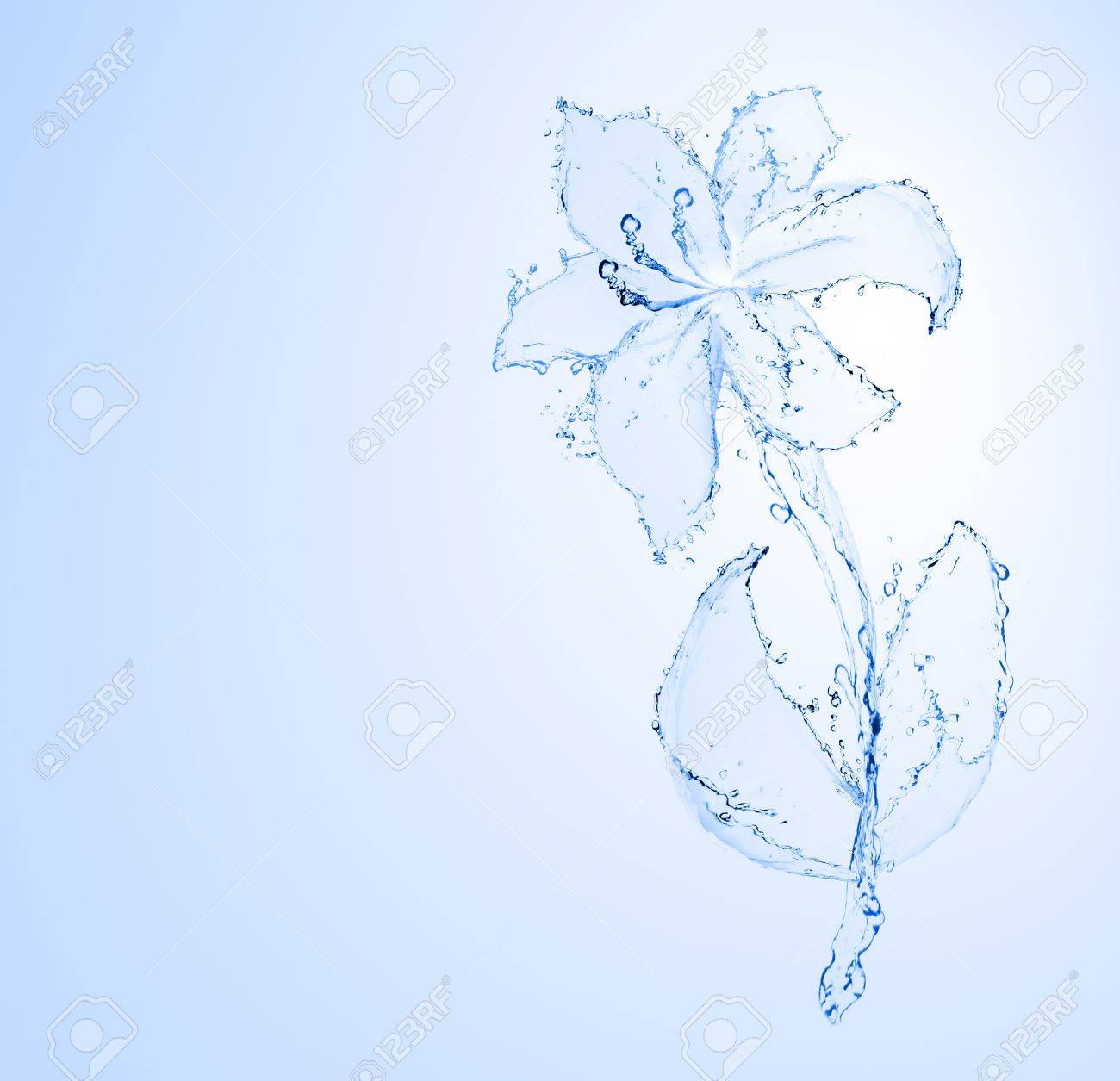 flower made of water  see more on my page Stock Photo - 13913221