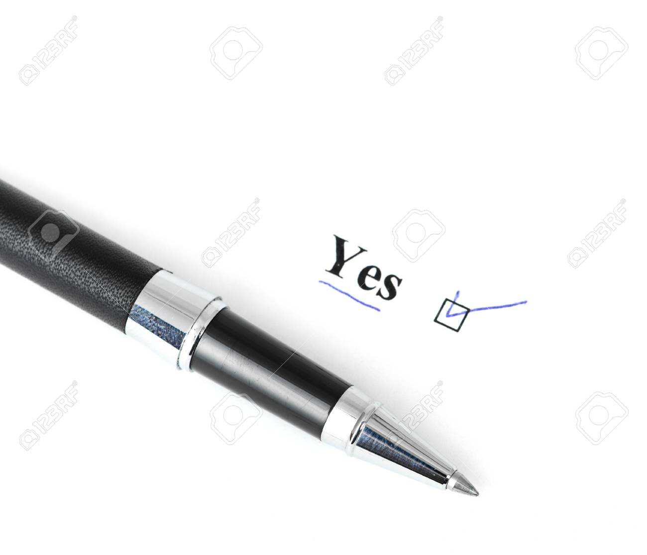 yes word isolated on a white background Stock Photo - 15147922