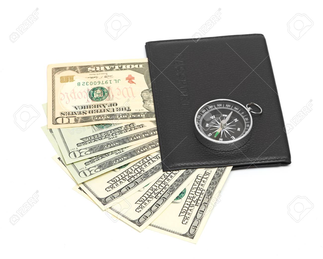 Passport and ticket isolated on a white Stock Photo - 15280146