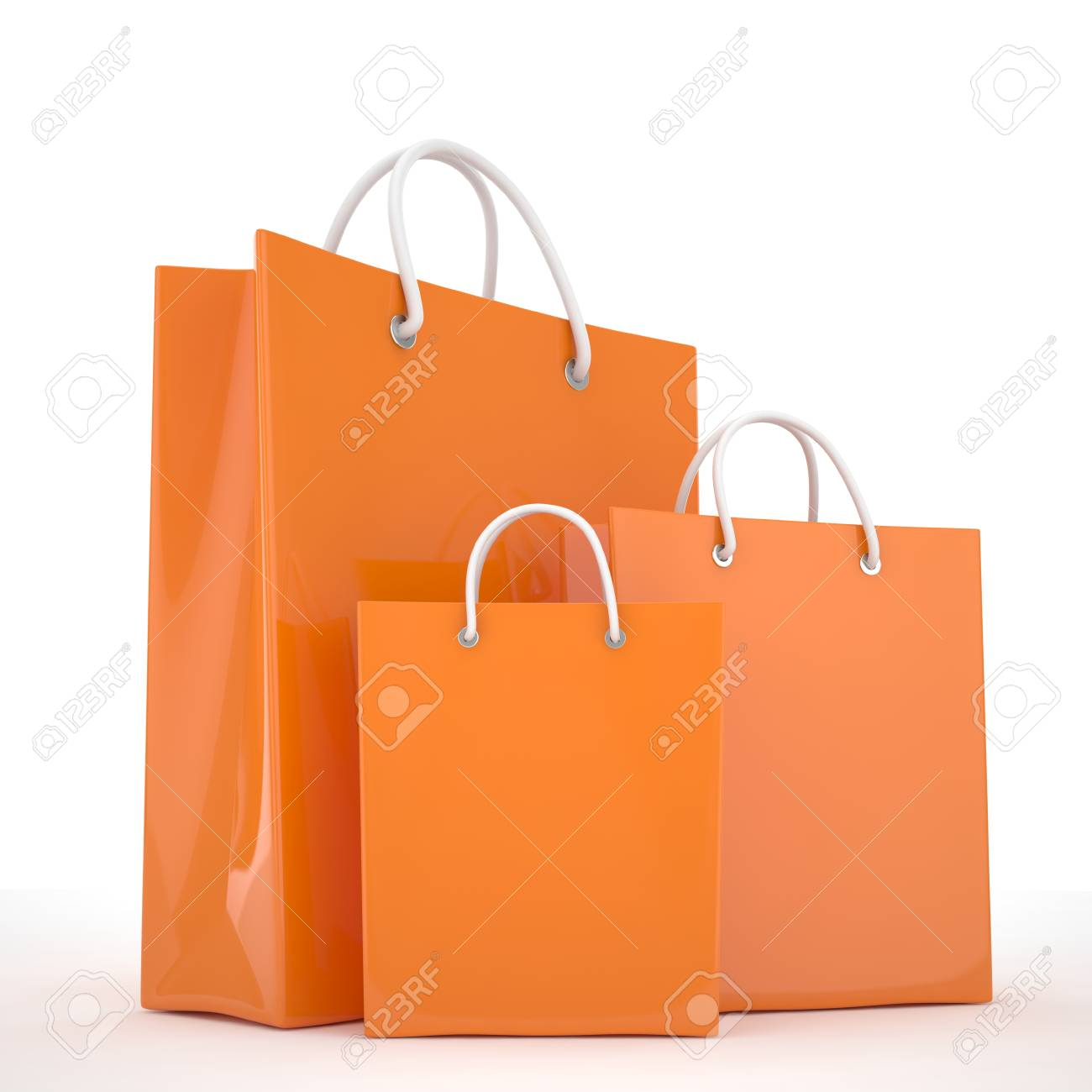 Paper Shopping Bags isolated on white background - 50355212