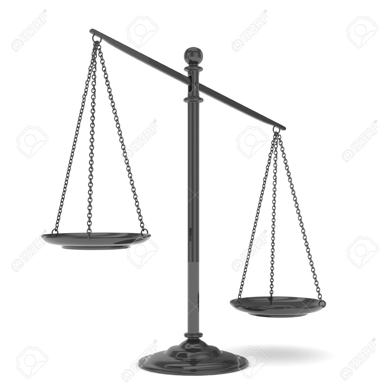 Isolated Black Scales On White Background Symbol Of Judgement