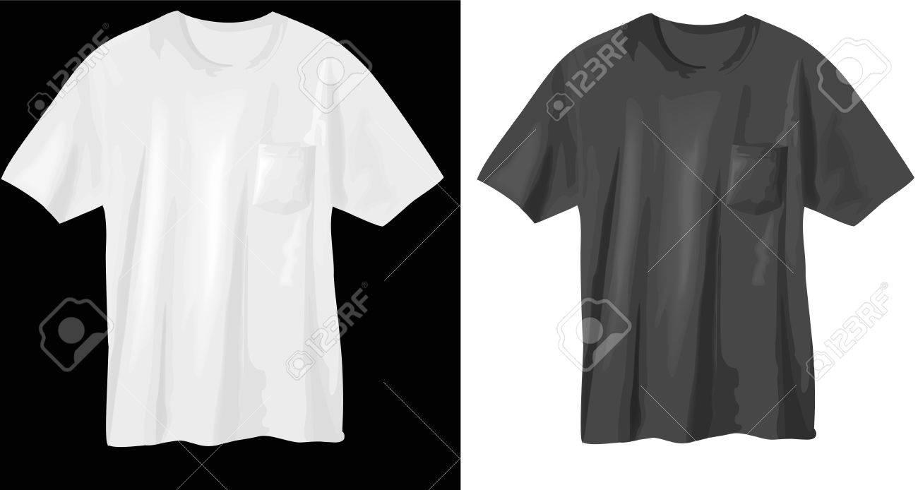 T-shirts - vector illustrations Stock Vector - 9823431