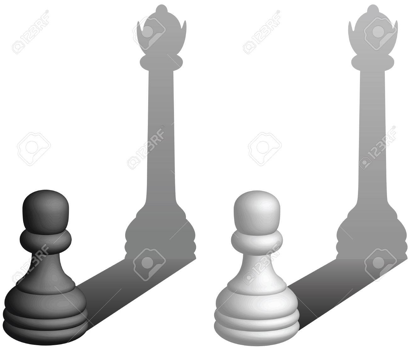 Chess Pawns Become Queens - Vector Illustration Royalty Free ...