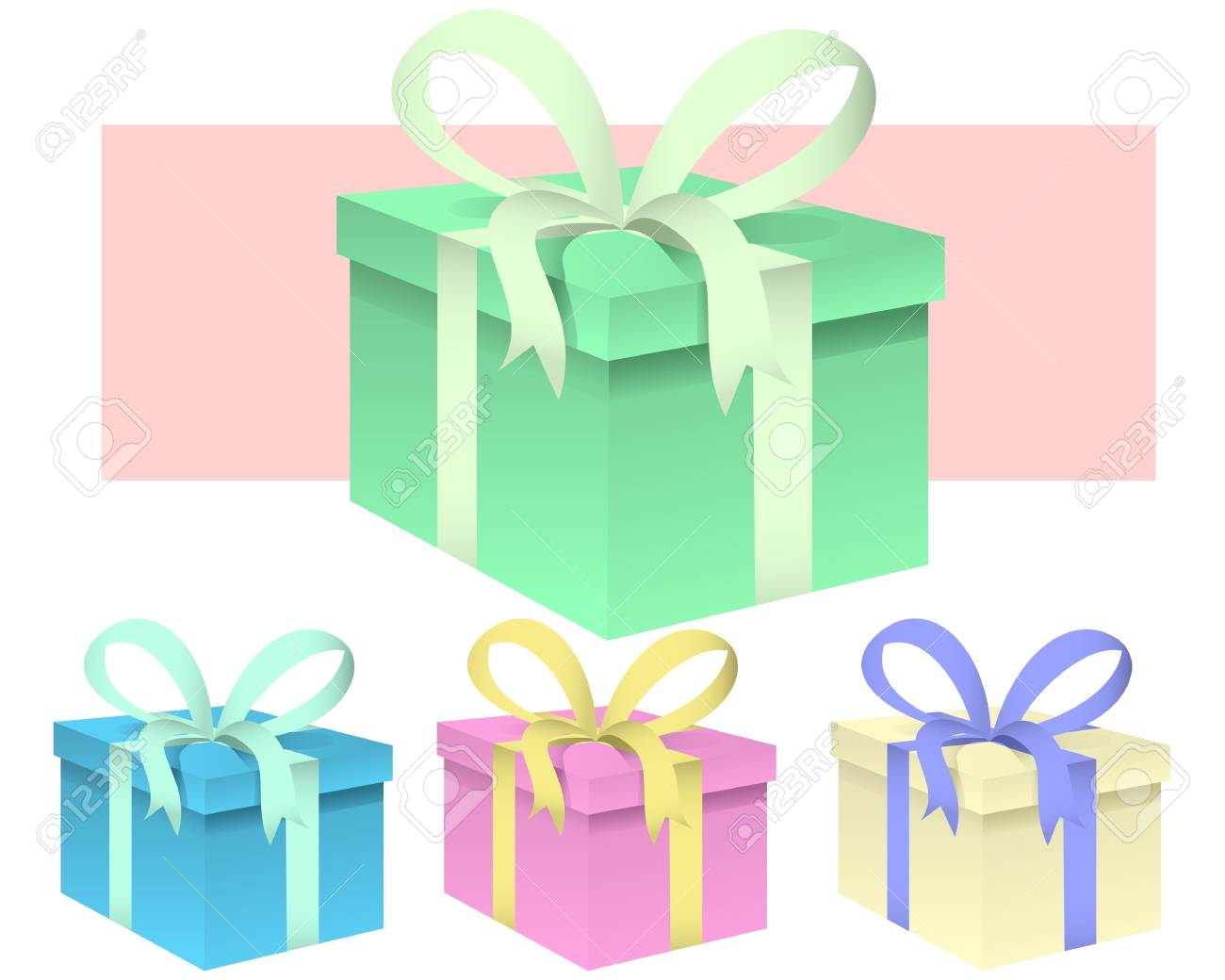 set of presents - vector illustration Stock Vector - 9823433