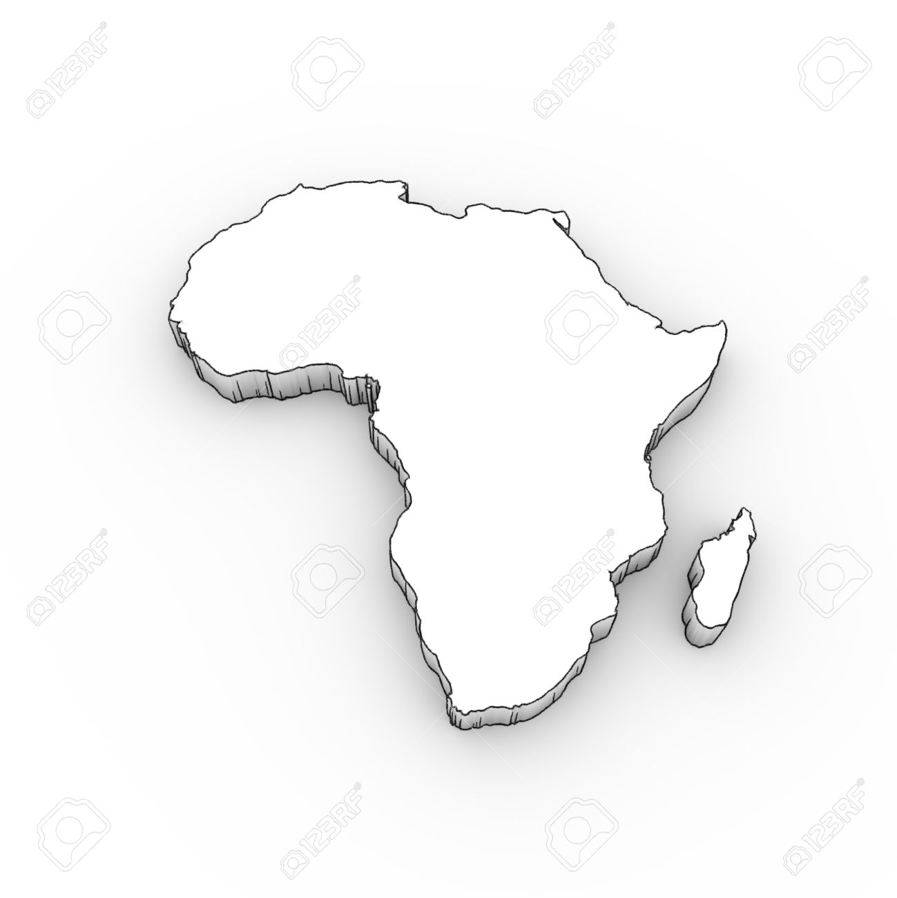 africa map drawing