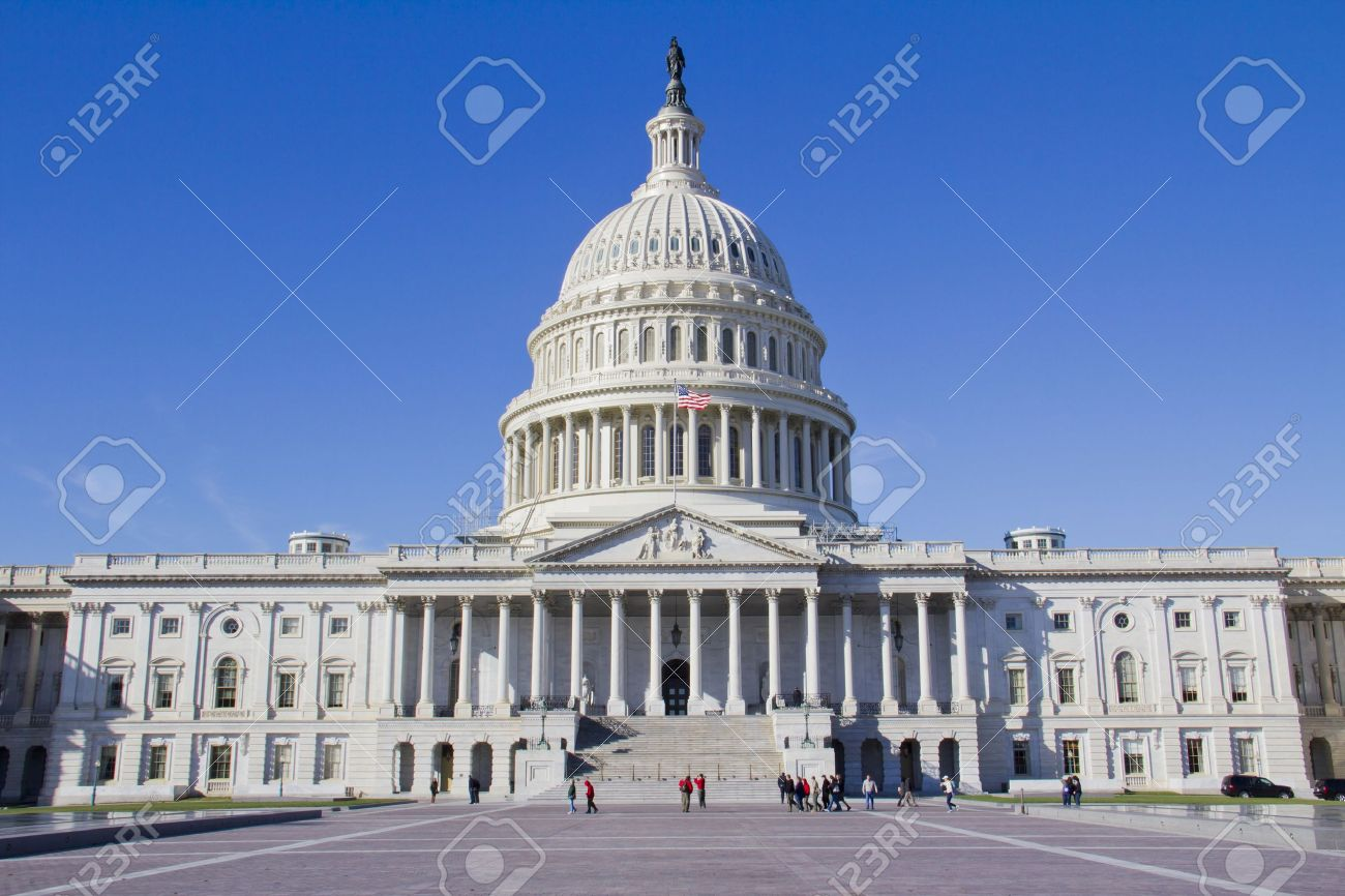 US Capitol Building, Washington, DC, US Congress, It is at the east end of the National Mall Stock Photo - 13308369