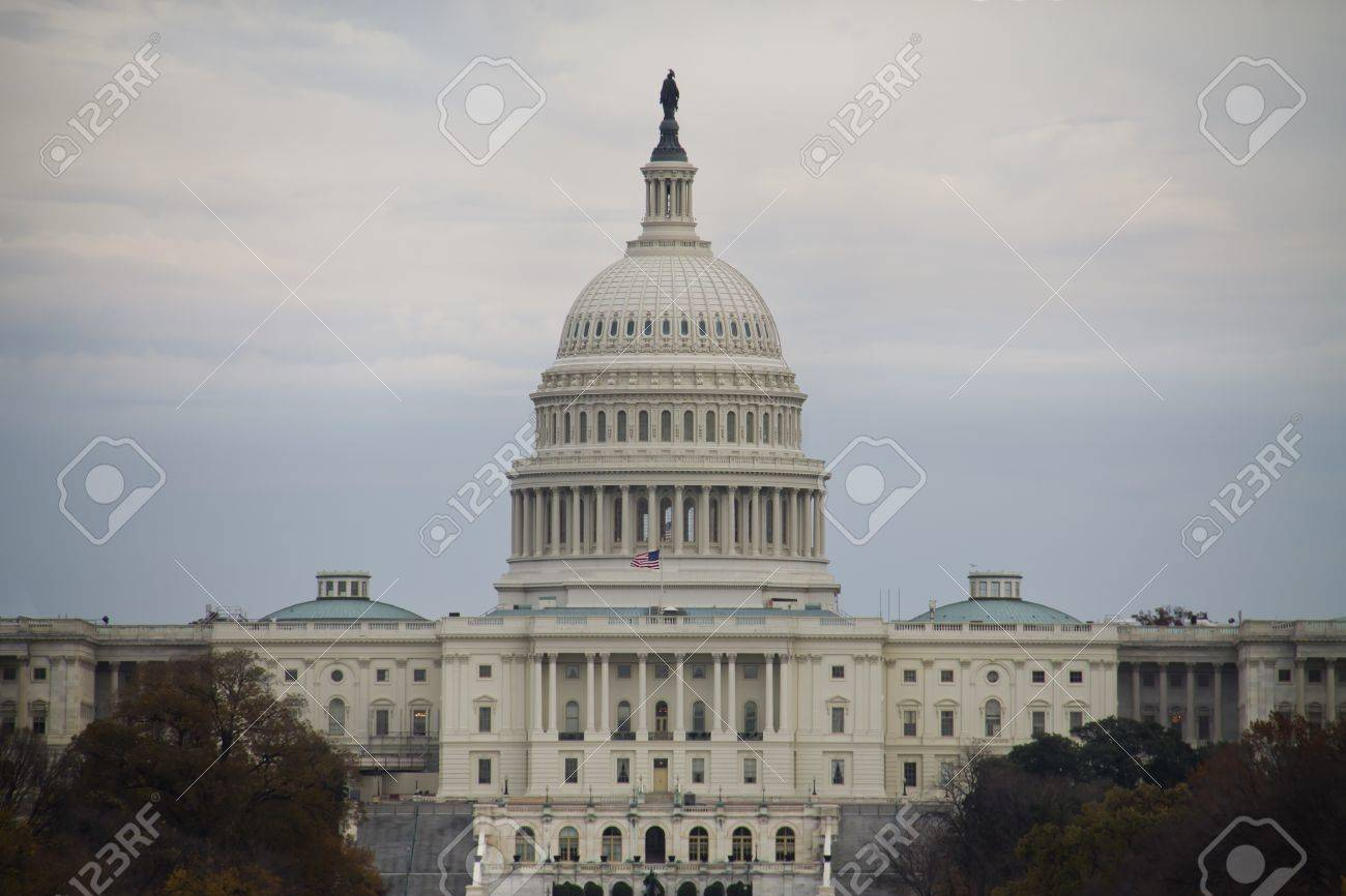 United States Capitol Building on cloudy day Stock Photo - 13357266