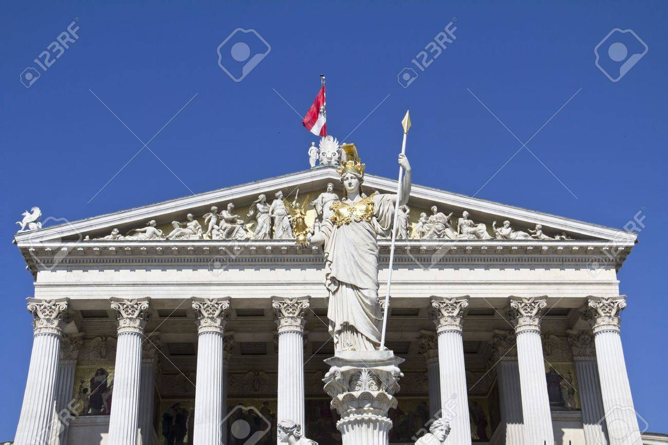 Austrian Parliament with Pallas Athene, landmark of Vienna  Stock Photo - 15246293