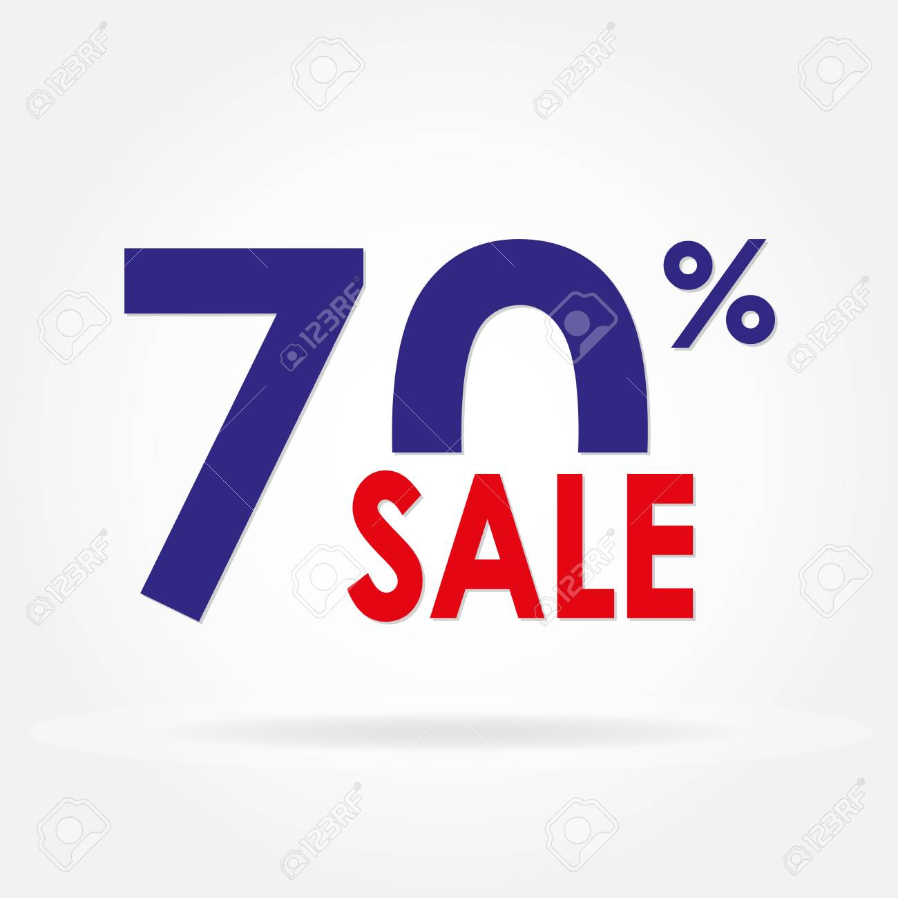 sale 70 and discount price sign or icon sales design template