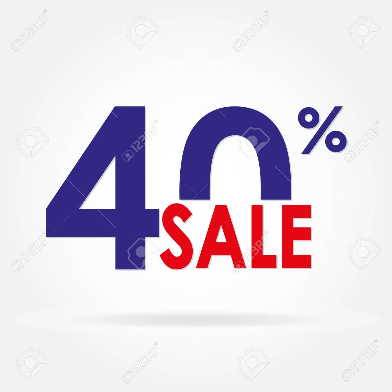 sale 40 and discount price sign or icon sales design template