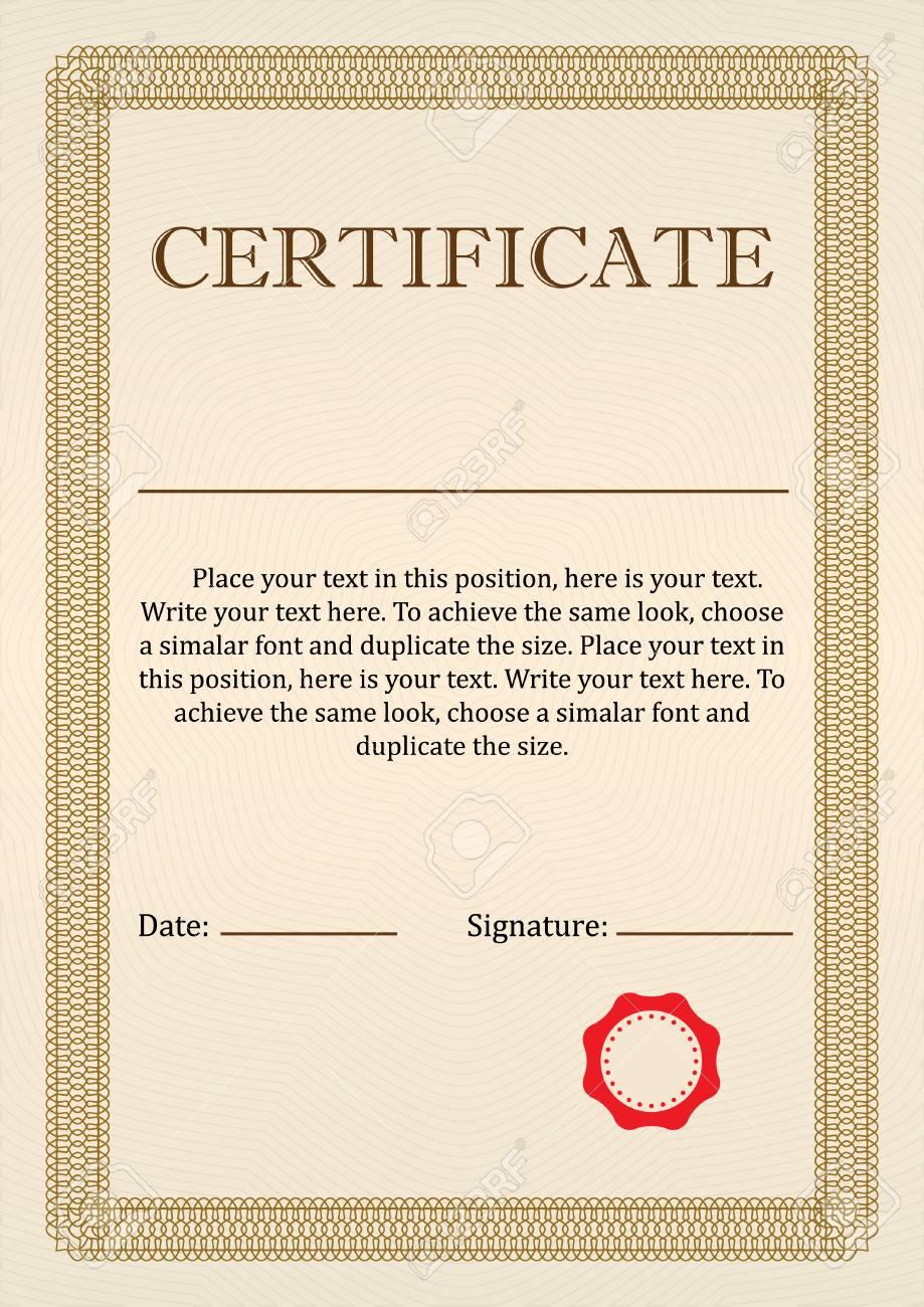 Certificado O Diploma De Plantilla De Diseño De Terminación Con ...
