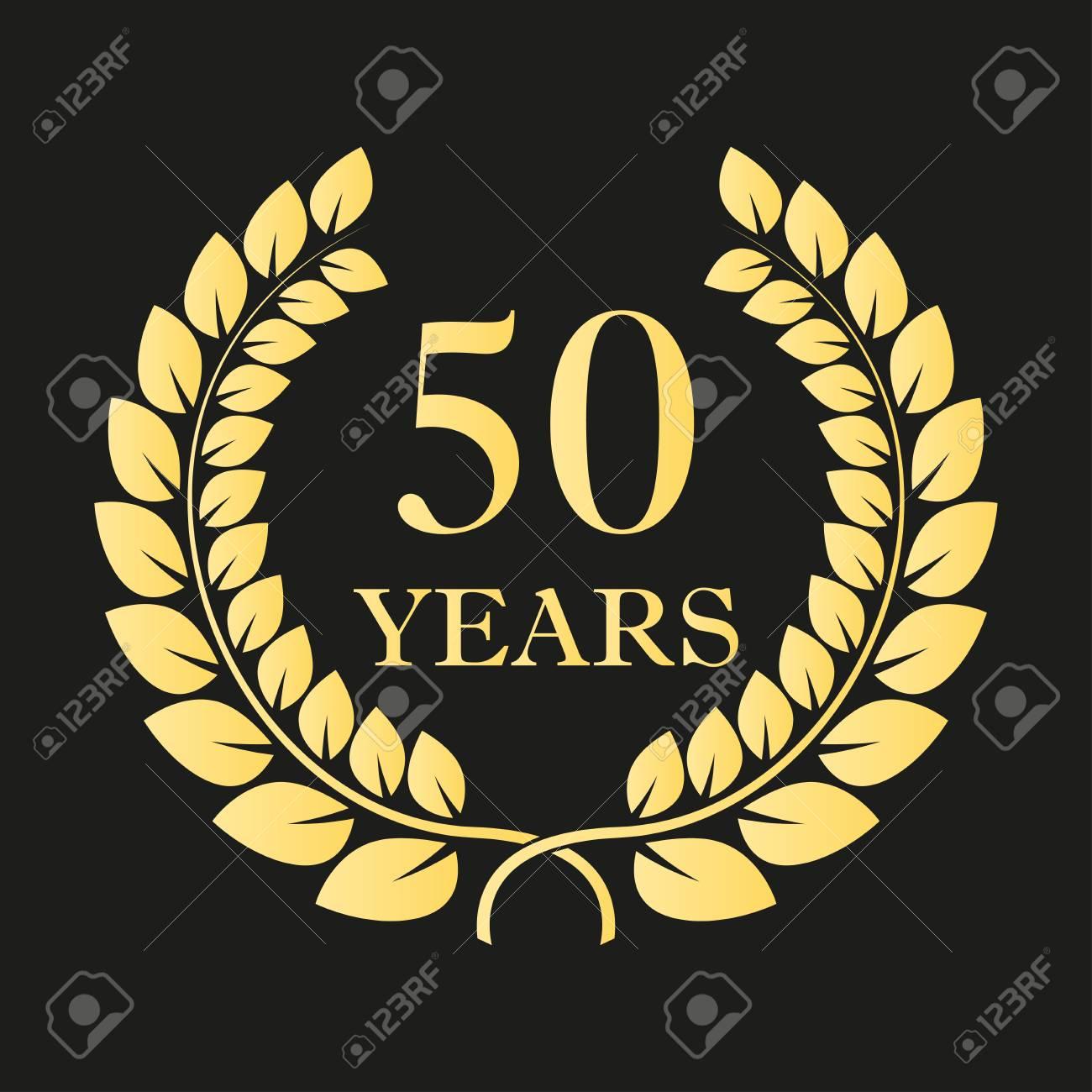50 years anniversary laurel wreath icon or sign template for 50 years anniversary laurel wreath icon or sign template for celebration and congratulation design biocorpaavc Choice Image