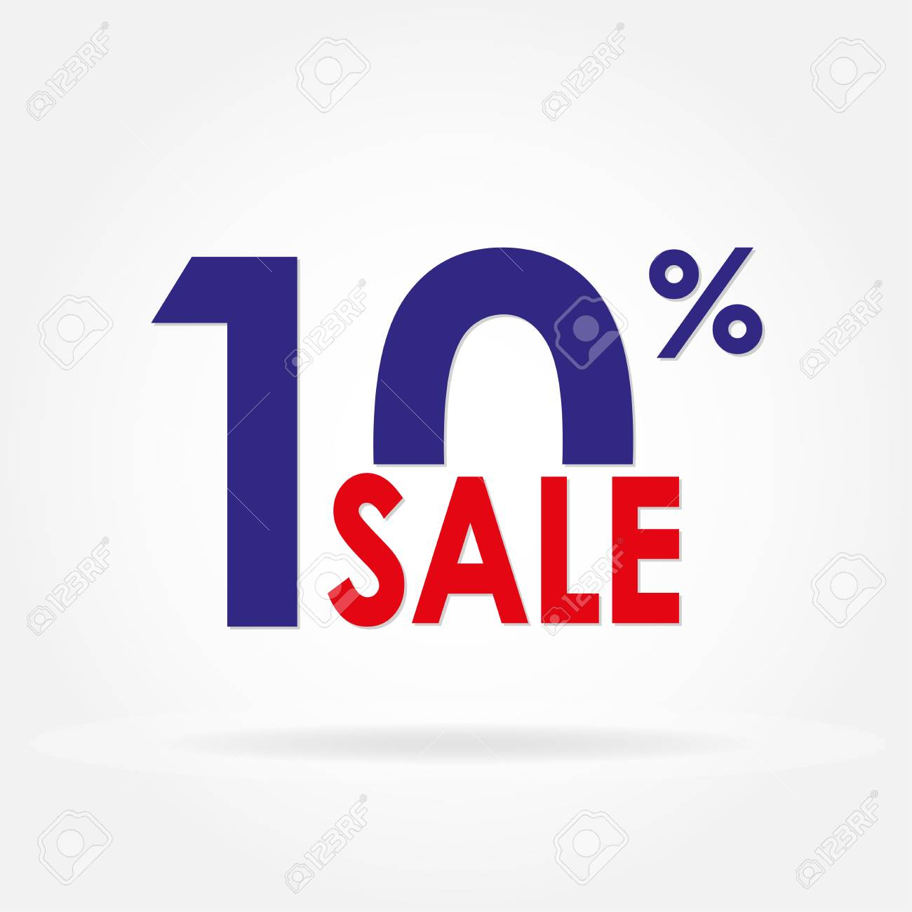 sale 10 and discount price sign or icon sales design template