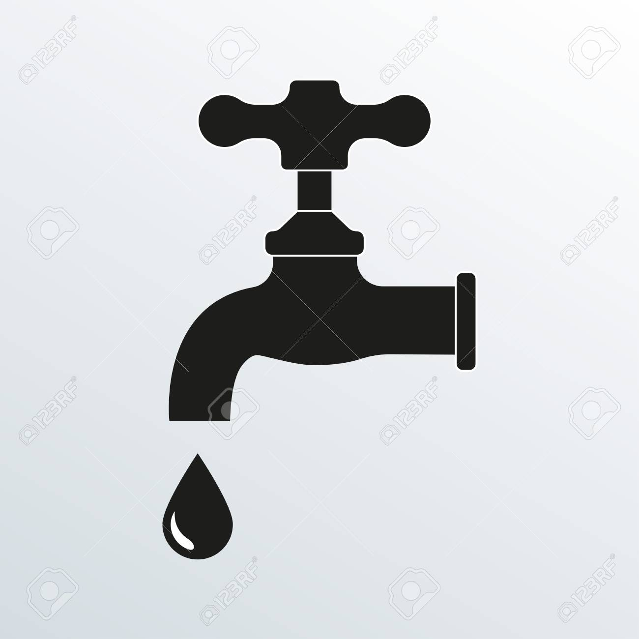 Faucet Icon. Vector Illustration Of Tap Or Faucet. Royalty Free ...