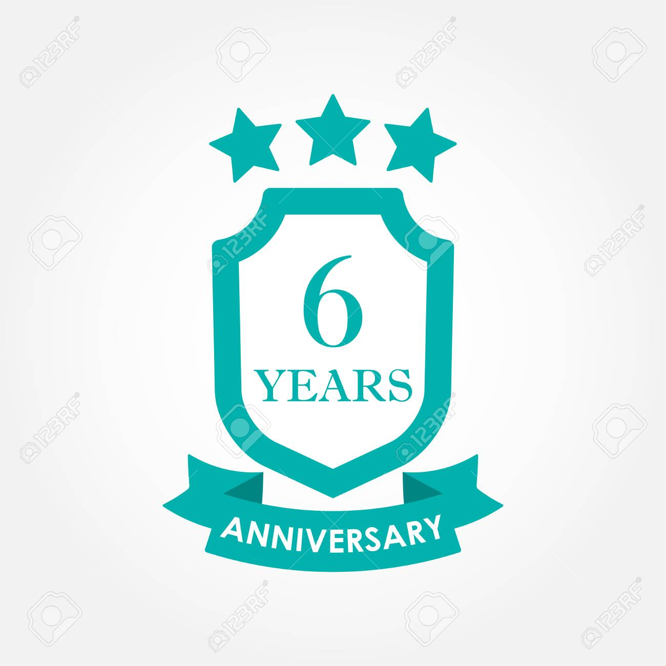 6 Years Anniversary Icon Or Emblem 6th Anniversary Label Celebration Royalty Free Cliparts Vectors And Stock Illustration Image 106956017