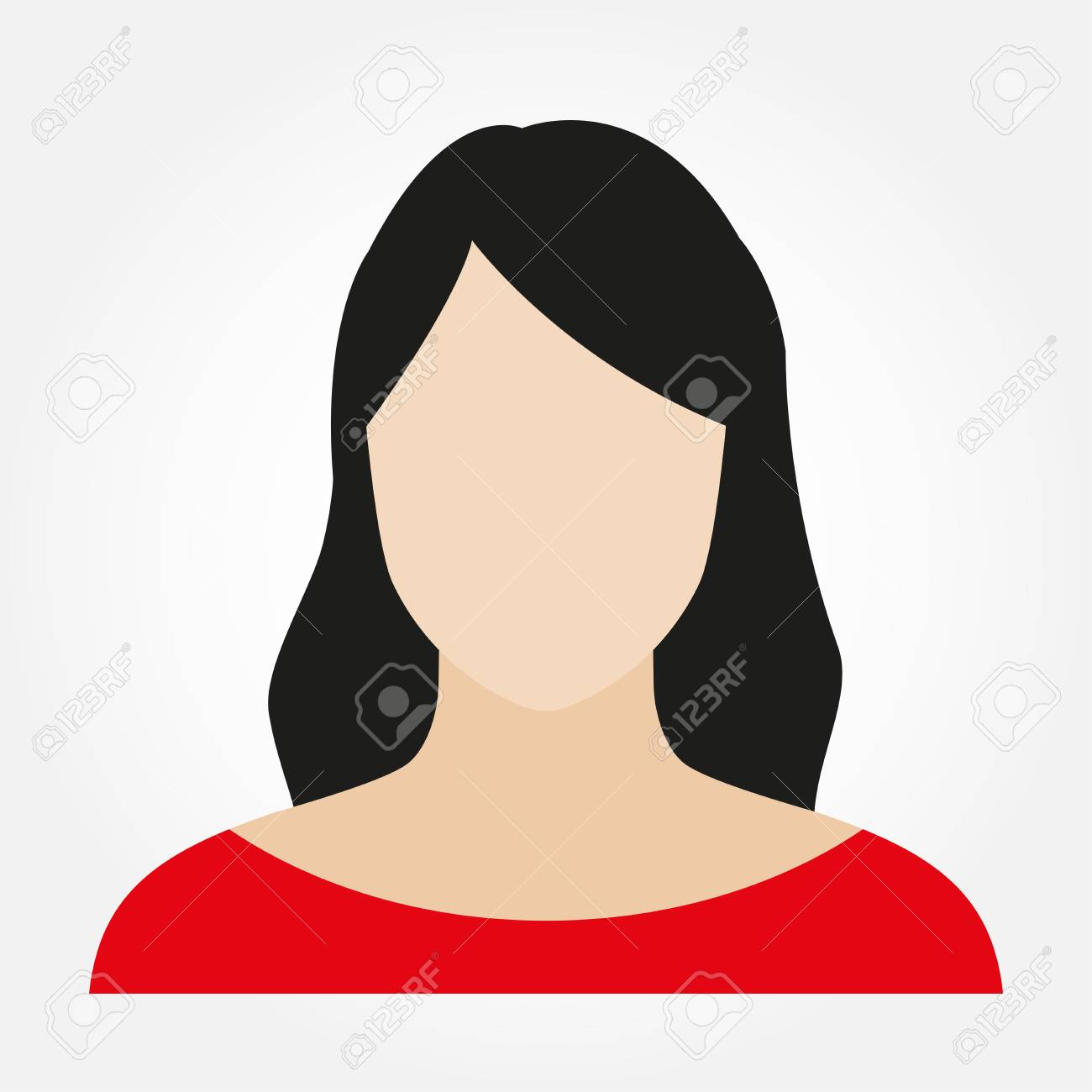 Woman avatar profile. Female face icon. Vector illustration. - 109815471