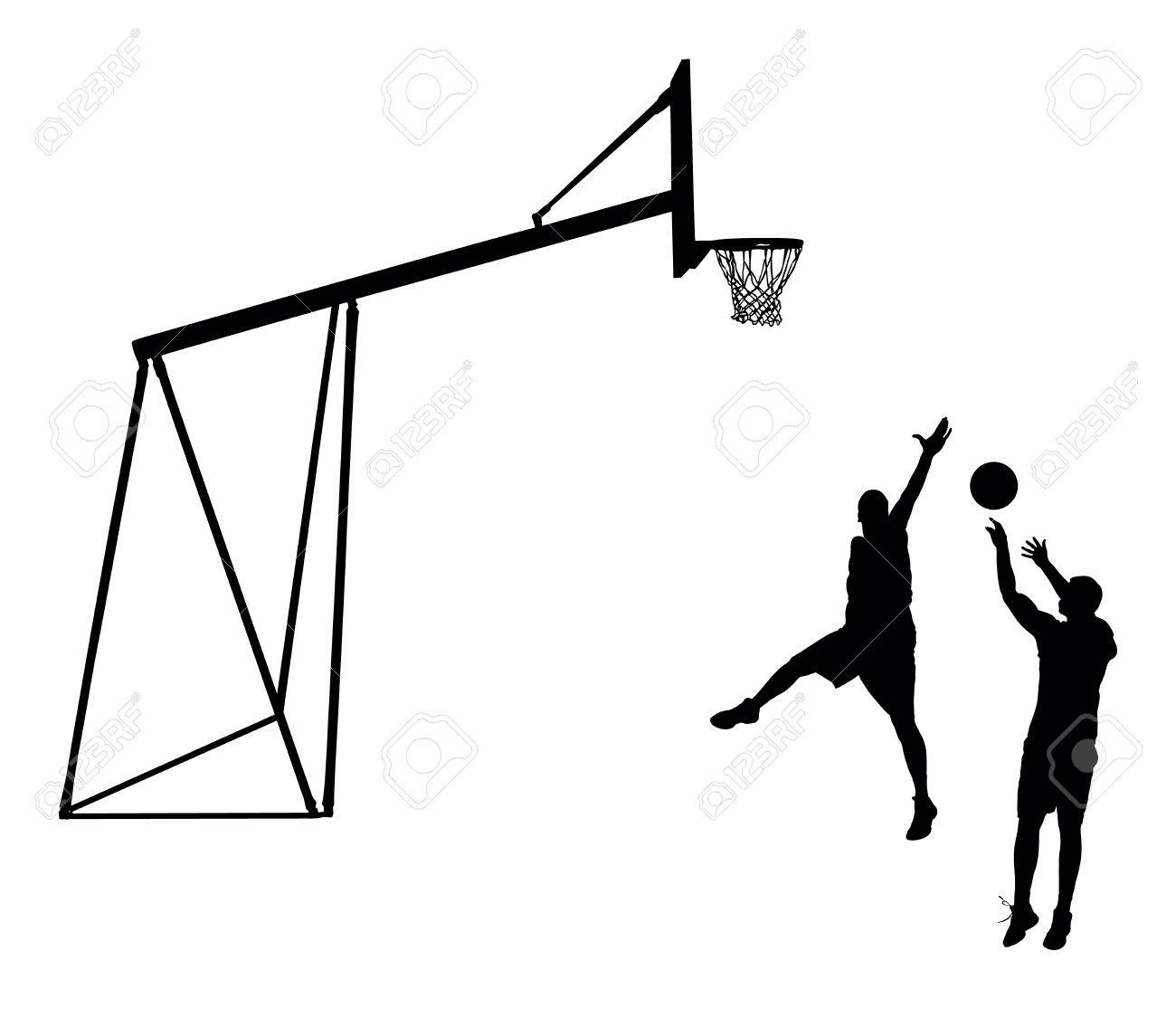 basketball players black silhouette vector illustration isolated rh 123rf com basketball team silhouette vector playing basketball silhouette vector