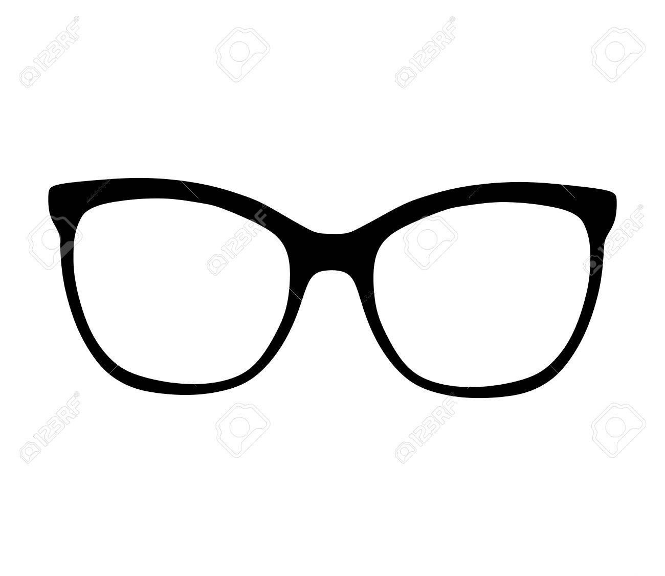 メガネはベクトル白い背景のシルエット イラストですサングラス眼鏡