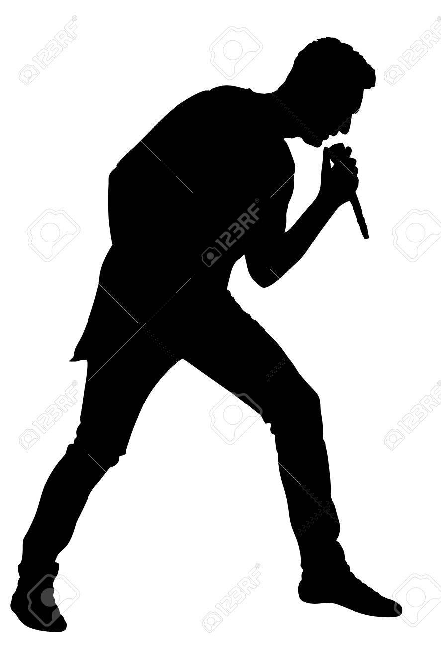 Resultado de imagen para cantante silueta