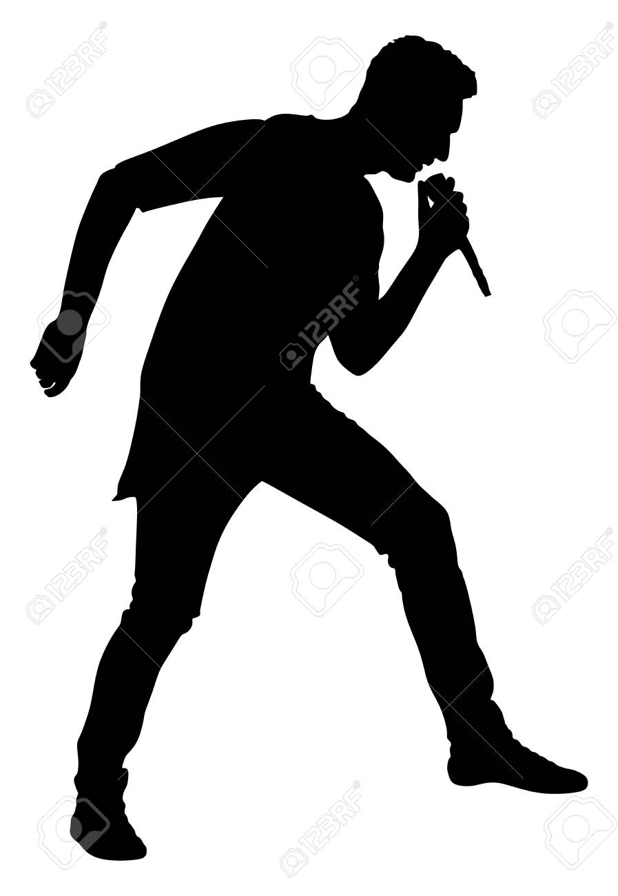 Resultado de imagen para silueta cantante