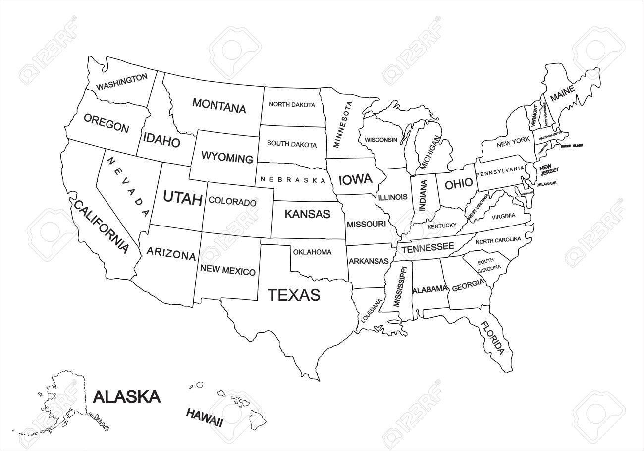 united states map editable