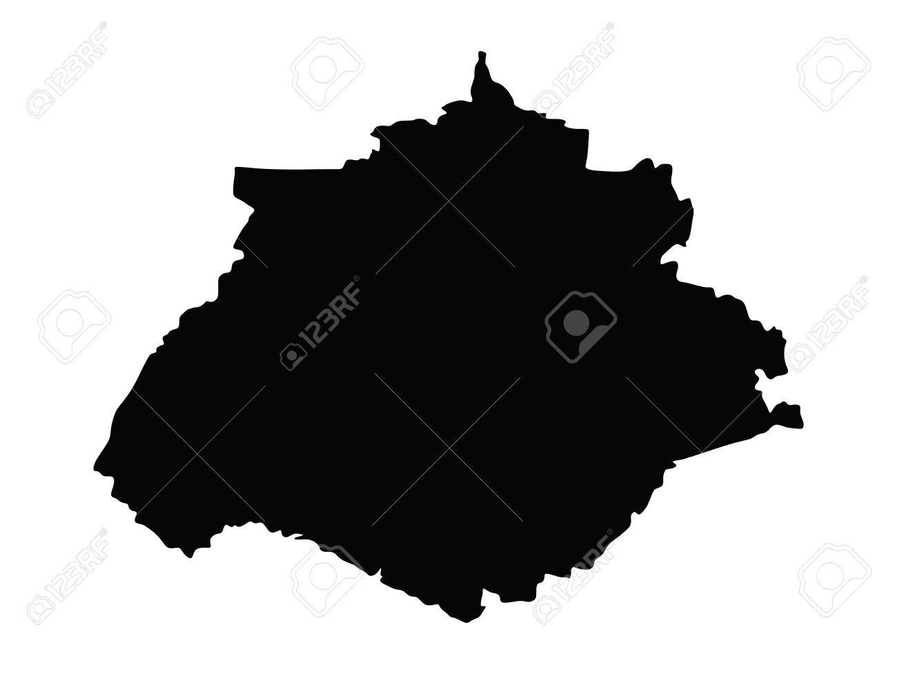 Aguascalientes Mexicovector Map Isolated On White Background