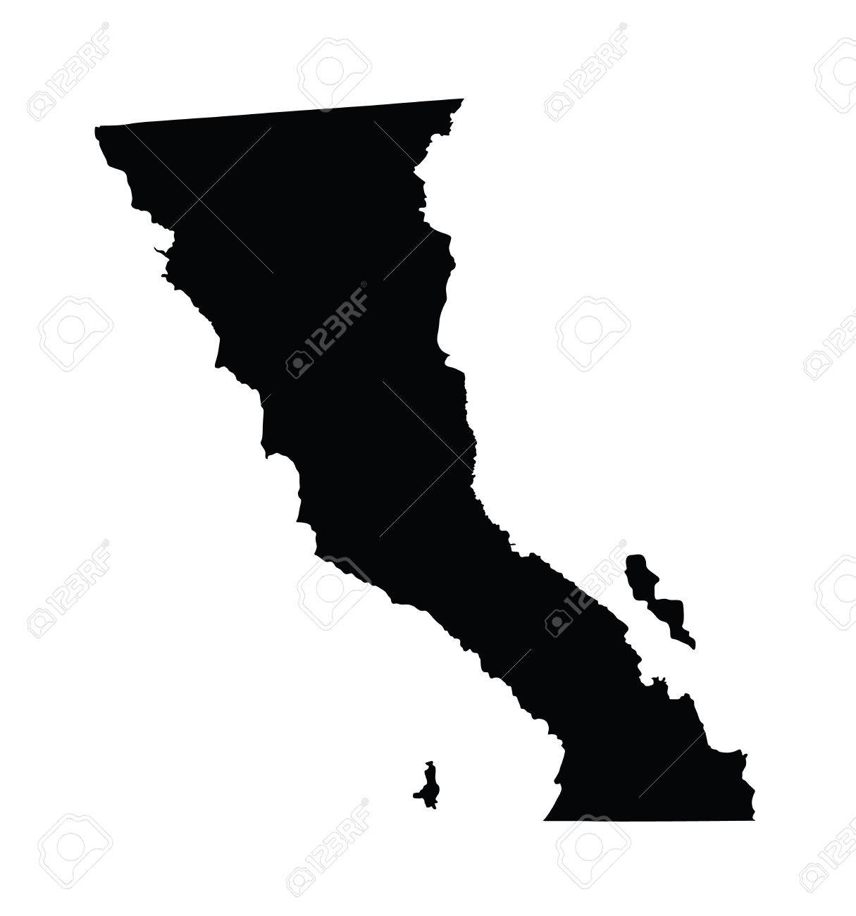 Baja california mexico vector map isolated on white background baja california mexico vector map isolated on white background high detailed silhouette illustration publicscrutiny Choice Image