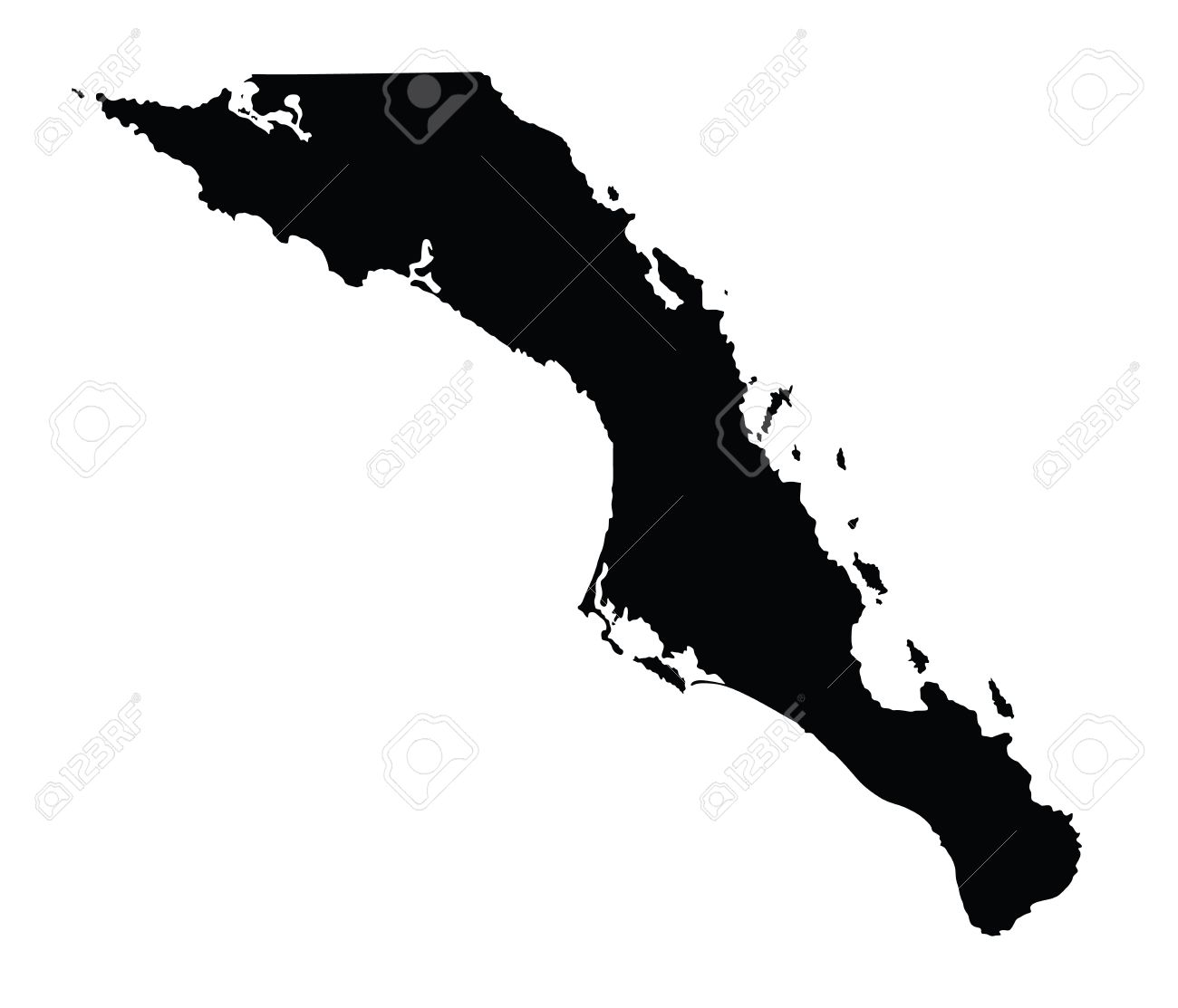 Baja california sur mexico vector map isolated on white background baja california sur mexico vector map isolated on white background high detailed silhouette publicscrutiny Choice Image