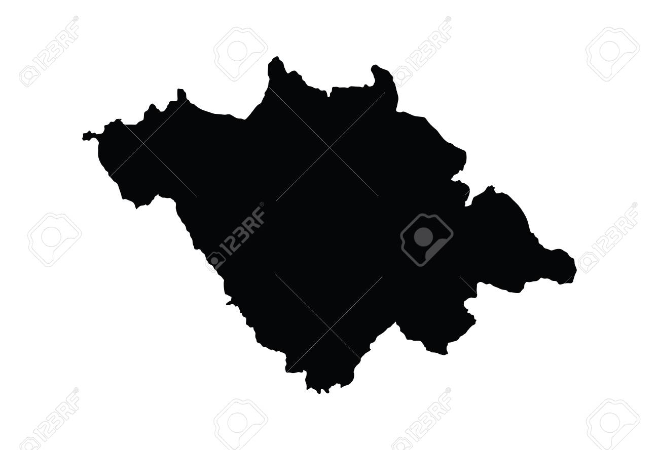 Tlaxcala Mexico Vector Map Isolated On White Background High