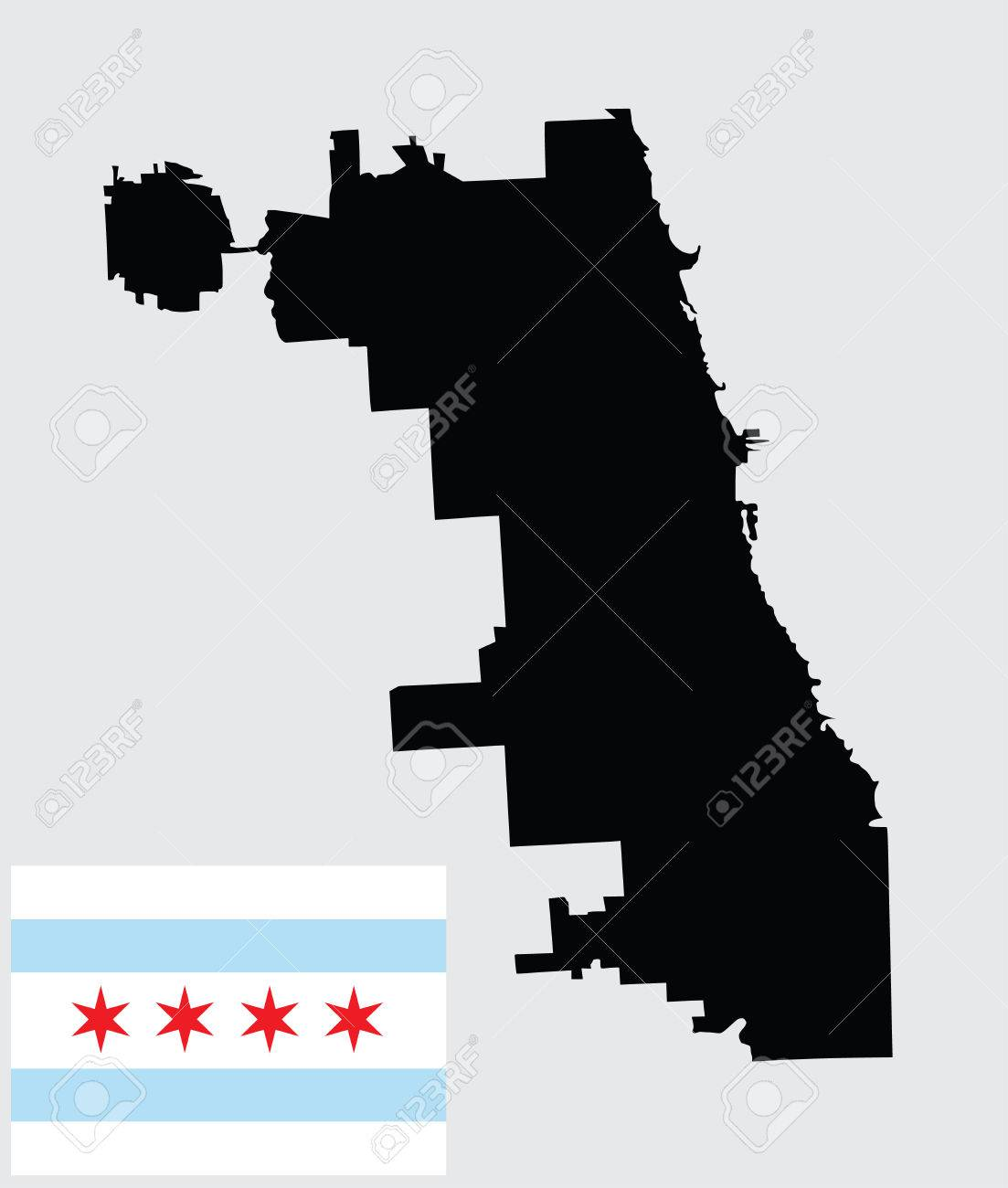 Chicago City map vector map isolated on