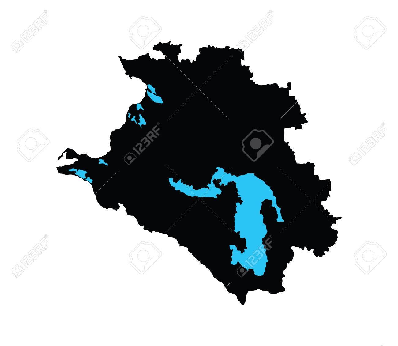 Krasnodar Krai Vektor Karte Auf Weissem Hintergrund Hohe