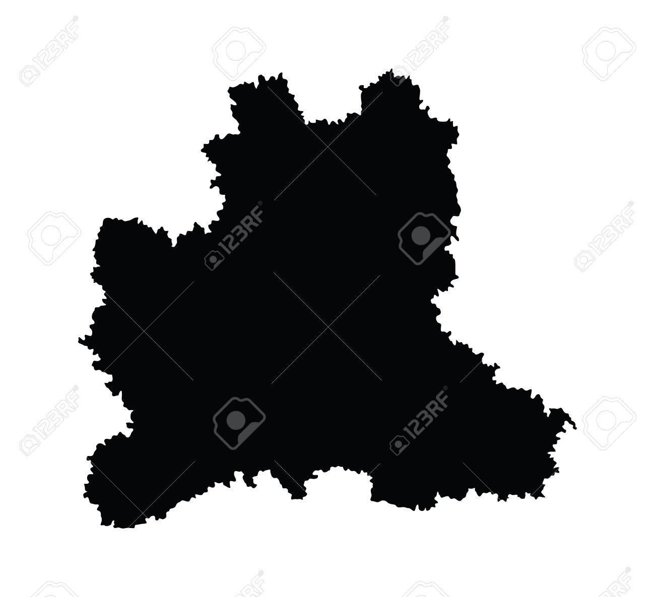 Lipetsk Oblast Vector Map Isolated On White Background High