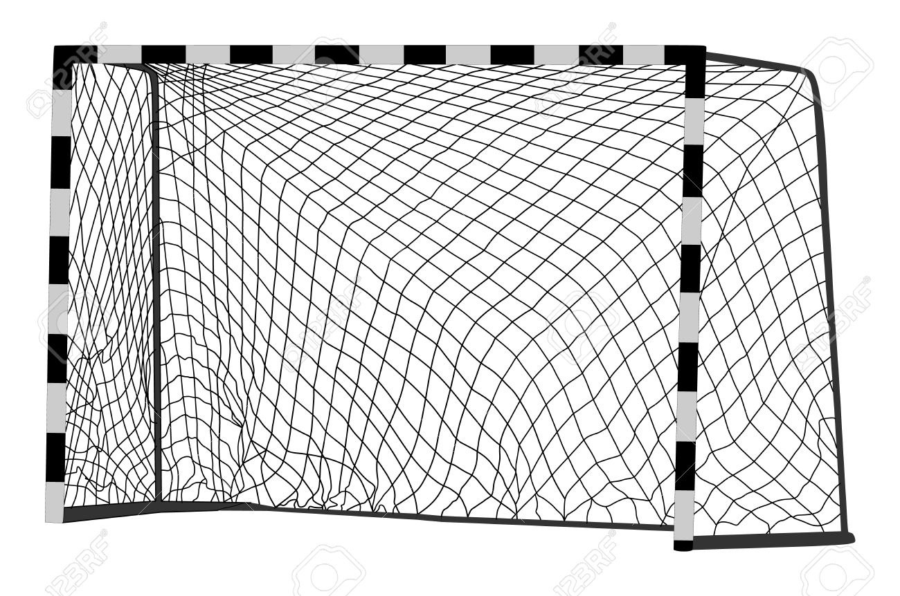 Soccer goal vector. Handball vector construction with net. Footsal goal. - 71955894