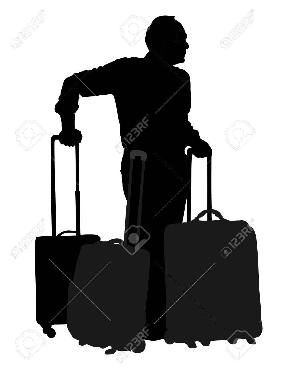 Balanceo Ilustración Turístico Su Silueta Llevar Viajero Hombre pfSWAnBq